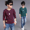 Children's wear boy's spring long sleeve T-shirt 2017 baby for new child fashion big boys render unlined upper garment tops