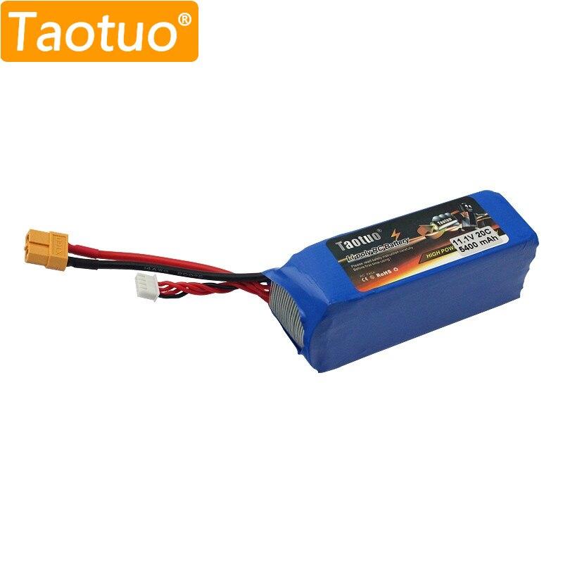 Taotuo Lipo Batterie 11.1 v 5400 mah 3 s XT60 Pour Wltoys CX-20 X380 RC Drone Quadcopter Voiture Bateau Bateria lipo Rechargeable Li-Poly