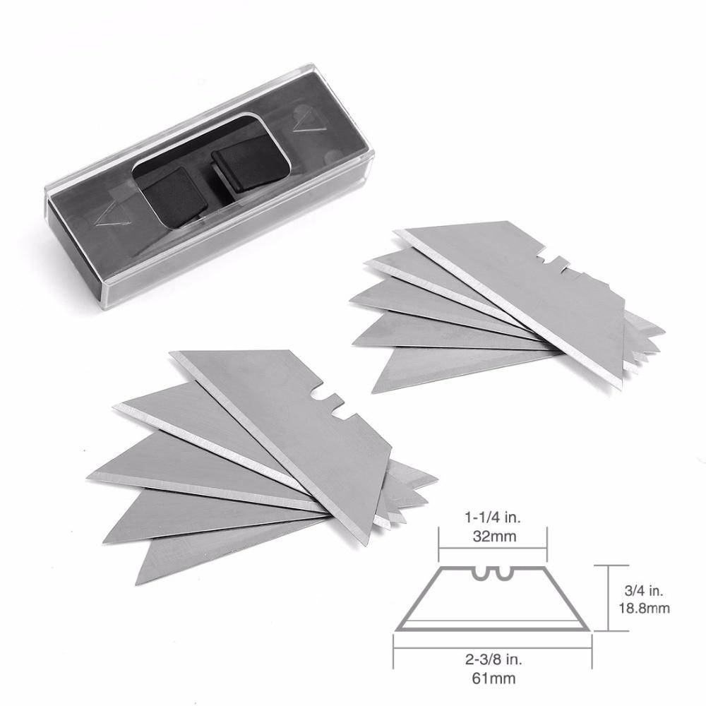 Купить с кэшбэком WORKPRO 3PC Mini Knives Utility Knife Aluminum Handle Folding Knife with 10pc Extra Blades