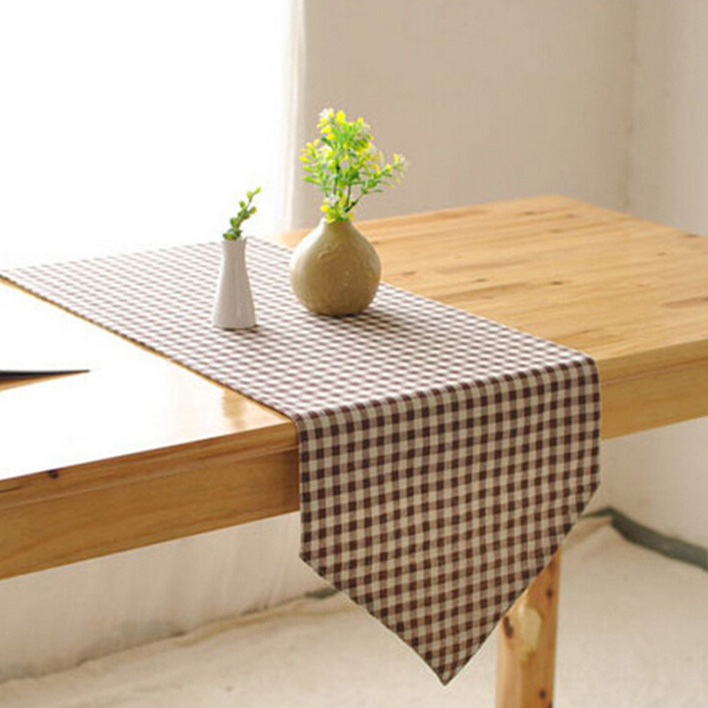 Coffee Table Linen Part - 28: Cotton Linen Tablecloths Linen Table Runners Modern Minimalist White Plaid Tablecloths  Coffee Table Flag-in Table Runners From Home U0026 Garden On ...
