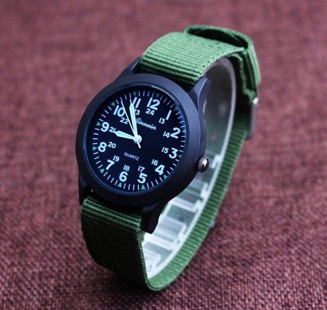 2017 новое поступление милые часы с нейлоновым ремнем на день рождения Рождественский подарок для девочек и мальчиков наручные часы Y1158