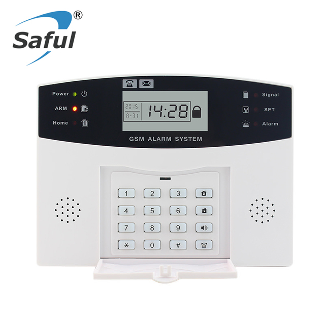 LCD Display Wireless GSM Alarm System Russian and English Spanish French voice SMS and Smoke Sensor Home Security Alarm System