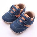 2016 New Design High Quality Cool Hook and Loop First Walking Leather Baby Boy Shoes 0-18 Months
