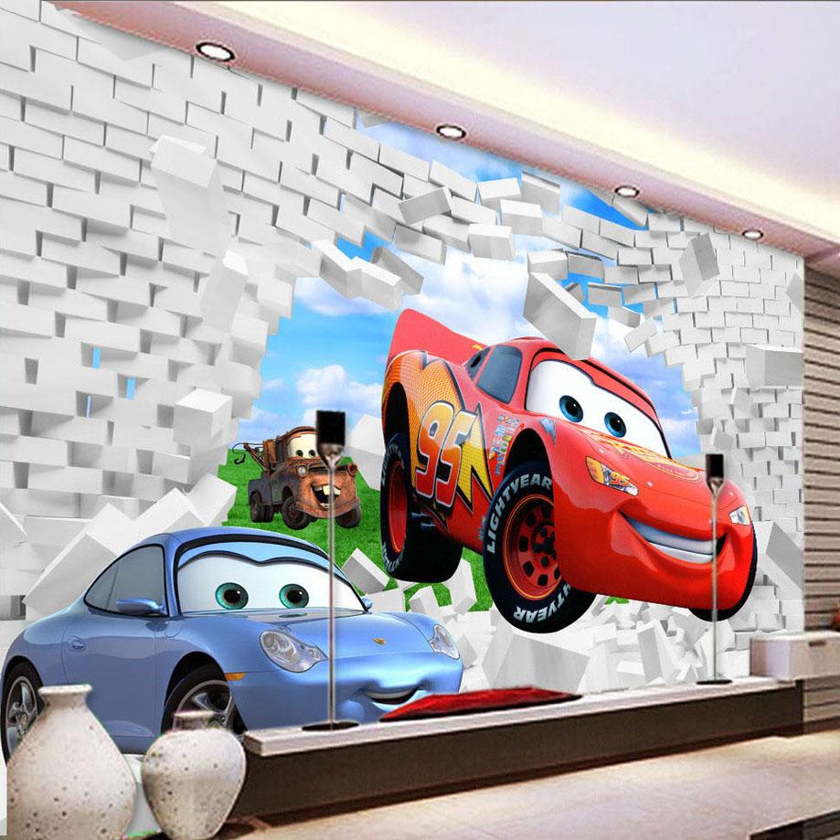 Comparar Pre Os De Kids Wallpaper Murals Compras On Line  ~ Parede Branca Quarto Com Quarto De Menino Carro