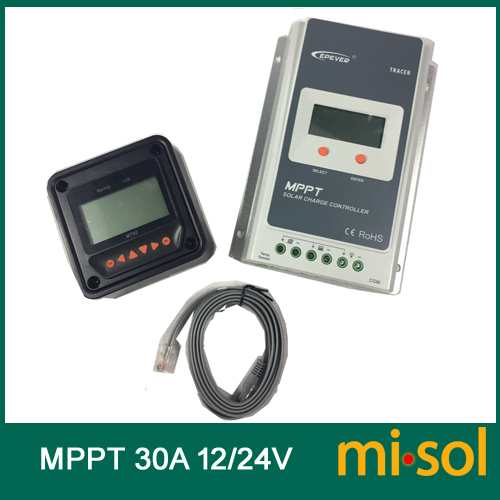 Tracer MPPT Solar regulator 30A, 12/24v, with remote meter, Solar Charge Controller 30A, NEW