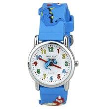 Уиллис Дети Time Teacher Watch легко читать кварцевые часы с 3D мультфильм мягкий силиконовый ремешок удобные для детей динозавр