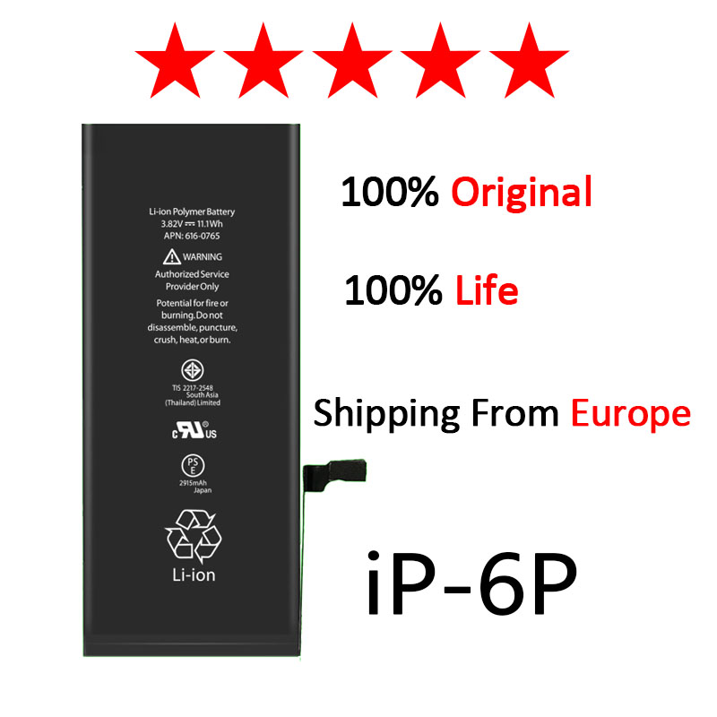 10pcs lot AAAAA Quality For iphone 6p Zosol Lithium Battery For iphone 6 plus Replacement Battery