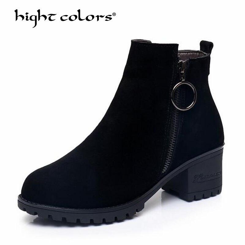 60f96958 Piel De Nieve Botas Y 2018 Mujer Plantilla Tacones Felpa Zapatos Black  Mujeres Nueva 32 Caliente Moda Invierno Las Llegada Tobillo 61wSFqw