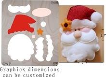 Дед Мороз высечки и деревянные штампы fit  /Scrabooking
