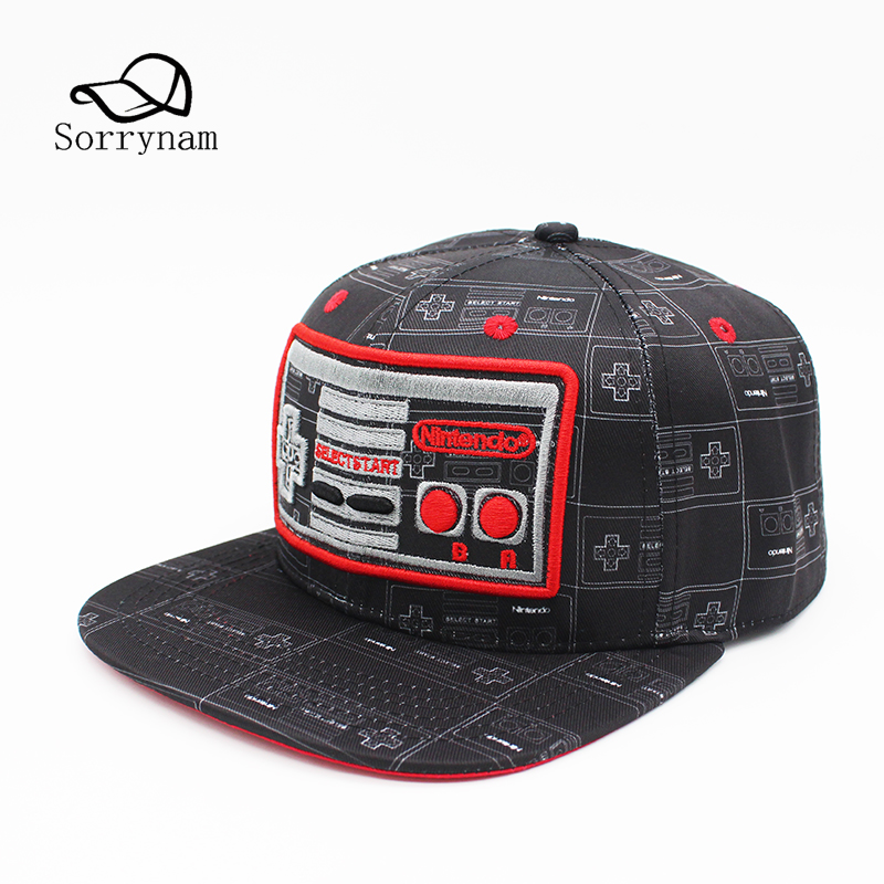 New Fashion Game Console Creative Design Snapback Cap Embroidery Baseball Cap Street Fashion Hip Hop Hats for Men and Women voron new unisex 100% cotton baseball cap russian emblem embroidery snapback fashion hats for men