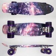 """Kleurrijke 22 """"Mini Skate Penny Board Voor Kinderen Plastic Fishboard Cruiser Voltooid Grafische Retro Banaan Skateboard Patins"""