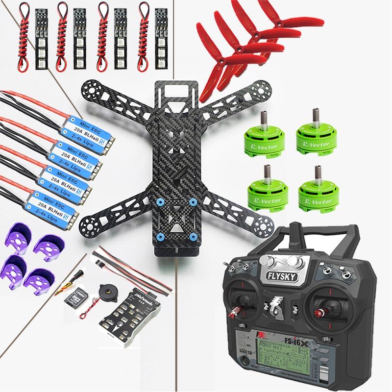 QAV280 Quadcopter Frame Kit+FS-i6X Transmitter with FS-iA6B+Pixhawk 2.4.8 Flight Controller+20A ESC BLHeli_S+RV2306 KV2650 Motor qav250 carbon fiber frame kit diy quadcopter with flysky fs i6 transmitter 1806 motor 12a esc cc3d flight control 5030 propeller