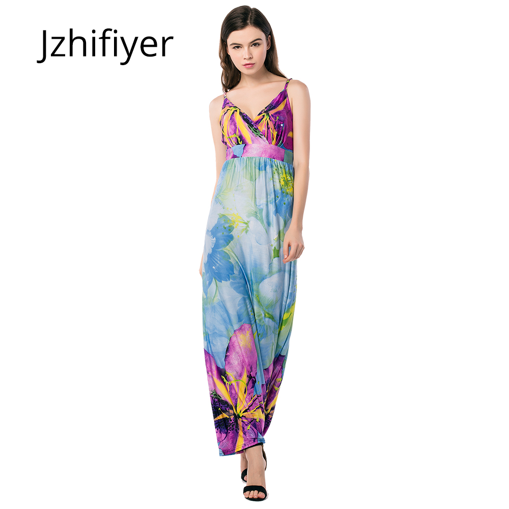 Femmes mujer maxi robe sexy V-cou dos nu robes plage sarong kaftan floral sangle robe élastique ceinture taille L-6XL