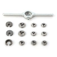 31pcs/set Mini HSS Metric Taps Dies Wrench Handle Tap And Die Set DIES M1/M1.1/M1.2/M1.4/M1.6/M1.8/M2/M2.2 /M2.5 Screw P20