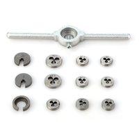 31pcs/set Mini HSS Metric Taps Dies Wrench Handle Tap And Die Set DIES M1/M1.1/M1.2/M1.4/M1.6/M1.8/M2/M2.2 /M2.5 Screw P20