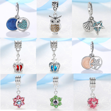 631cc8b41 European Crown Pendant With Blue Crystal Silver Alloy Beads Charms Fit Pandora  Bracelets & Bangles Necklace