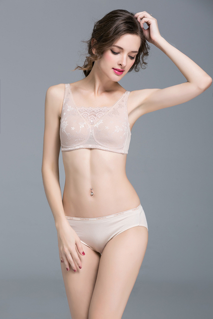 Sutia Direct Selling Lace Solid Bras 2017 Non-trace Breast Special Padded Bra Fake Breasts After Cancer Surgery Free Shipping