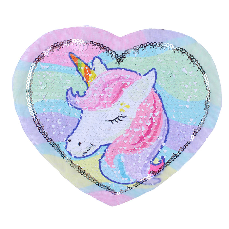 Animal Sequins Beads Embroidered Cloth Patch Unicorn Patch With Adhesive Ironing Cloth Clothing Accessories Wholesale
