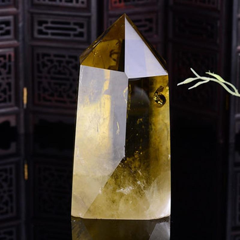 200-350g Grande Natureza smoky citrino amarelo cristal