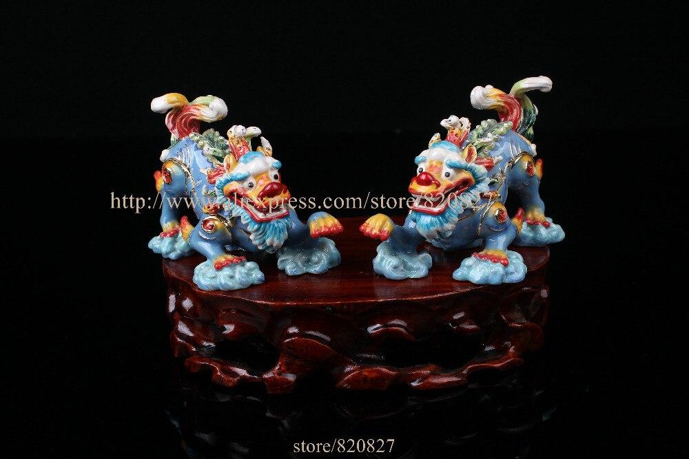 Feng Shui Dragon Bijou Boîte Asiatique Unique Boîte Décoratifs pour La Maison Boîte à bijoux Dragon Artisanat Chanceux Apportant Bijou Boîte 2 pcs paire