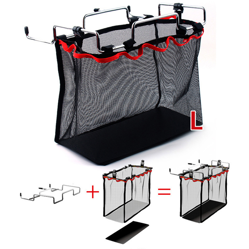 Outdoor Accessory Storage Frame with Bag Portable Foldable Iron Rack Table Barbecue Picnic Mesh Camping Hiking Kitchen 3 Size