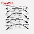 Relax completo flex memoria titanium del marco óptico para los hombres clásicos populares cómodo usando anteojos recetados borde completo 8026