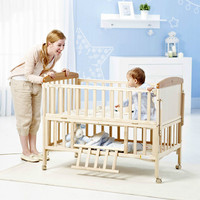 No paint green wood crib multifunction cradle bed baby bed baby children