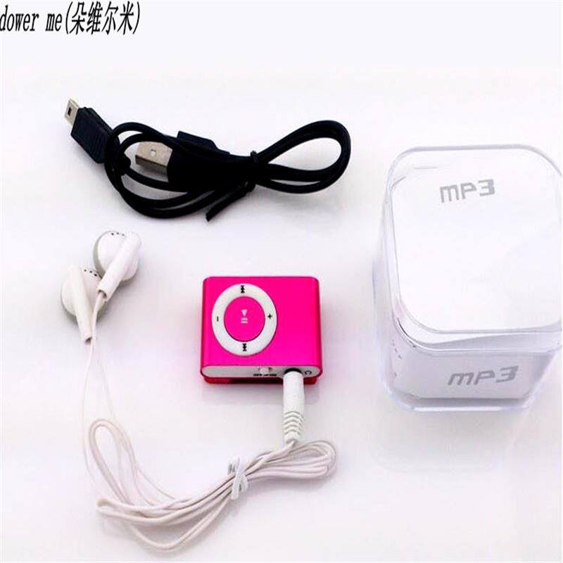 US $0 99 |2018 BOX Colorful Mp3 Player Mini Mp3 Music Player Micro TF Card  Slot USB MP3 Sport Player USB Port With Earphone Headphone-in MP3 Player