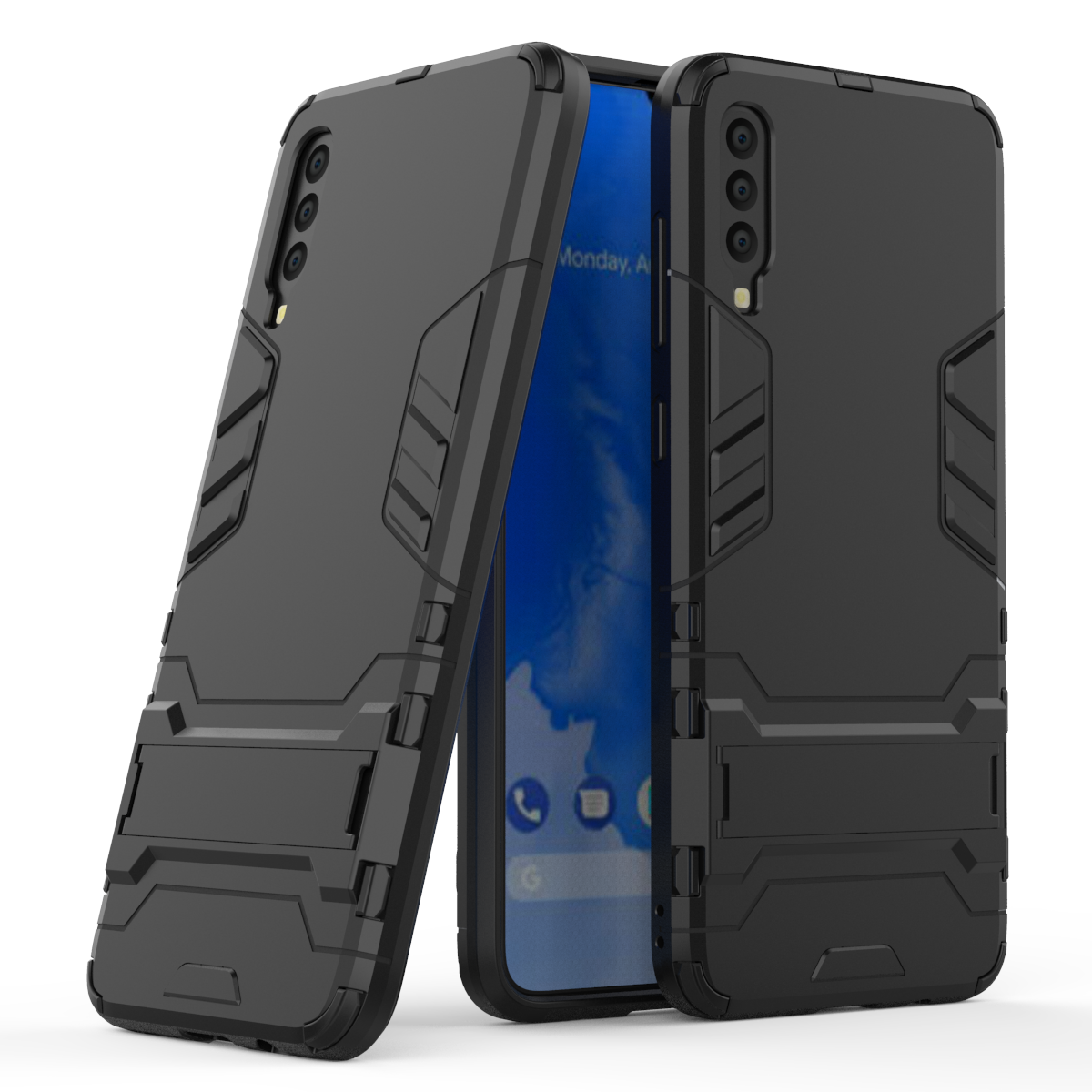 3D <font><b>Shockproof</b></font> Armor <font><b>Cases</b></font> For <font><b>Samsung</b></font> <font><b>Galaxy</b></font> A10 <font><b>A20</b></font> Core A30 A40 A40S A50 A60 A70 TPU Protective Hard Phone Cover Stand Shell image
