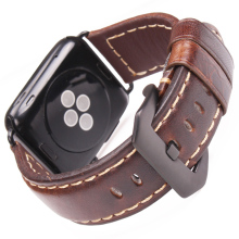 Vintage Genuine Cow Leather Watchbands Dark Brown For Apple Watch Strap Accessory 38mm 42mm