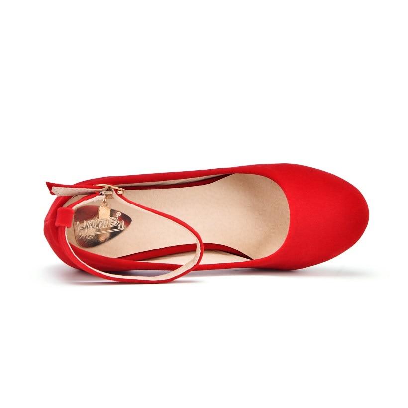c56c1164ec9f women red black small big plus size 32 42 43 heels bridal wedding shoes  ladies medium thick heel female heels pumps single shoes-in Women s Pumps  from Shoes ...