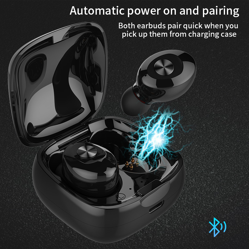 Wireless Earbuds V5 0 Mini Bluetooth Earphone Headset Deep Bass Stereo Sound Sport Earphone With Mic Portable and Charging box in Bluetooth Earphones Headphones from Consumer Electronics