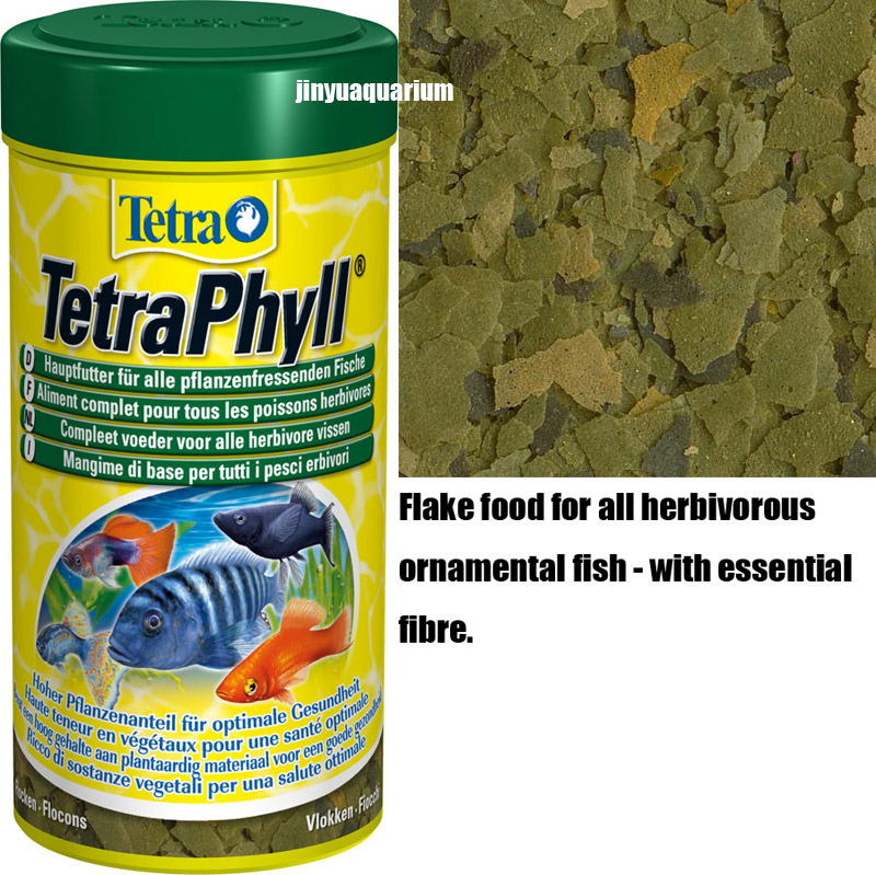 Tetra phyll tropical fish food flakes 250ml 52g float on for Discus fish food