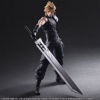 PLAY ARTS 27cm Final Fantasy VII Cloud Strife Edition 2 Action Figure Model Toys