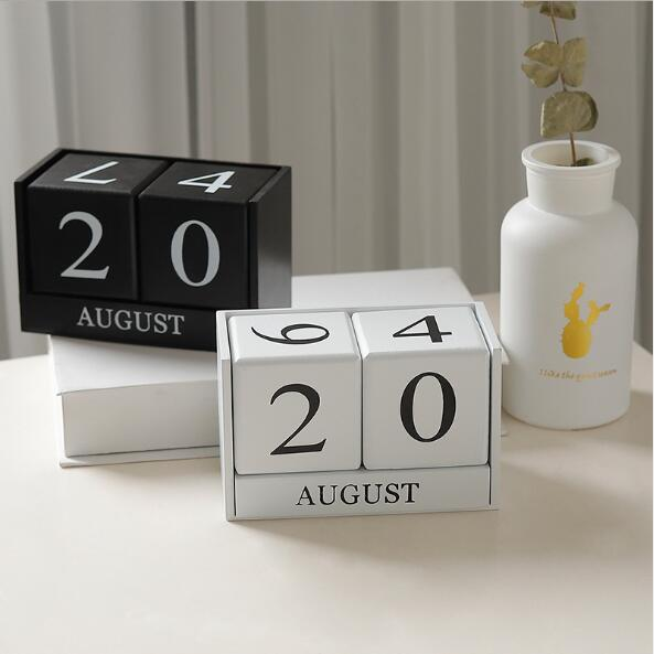 2019 Nortic Kreative Manuelle Schreibtisch Calendario Pared Büro Tisch Holz Kalender Home Dekorationen Schreibwaren Mädchen Geburtstag Geschenk Office & School Supplies