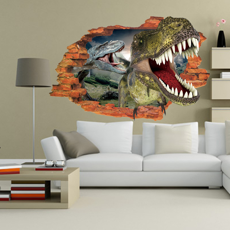 Attractive 3D Dinosaurs Wall Sticker Bedroom Children Cartoon Decoration Stickers Self  Adhesive Home Decor Pvc Wall Sticker Kids In Wall Stickers From Home U0026  Garden On ...