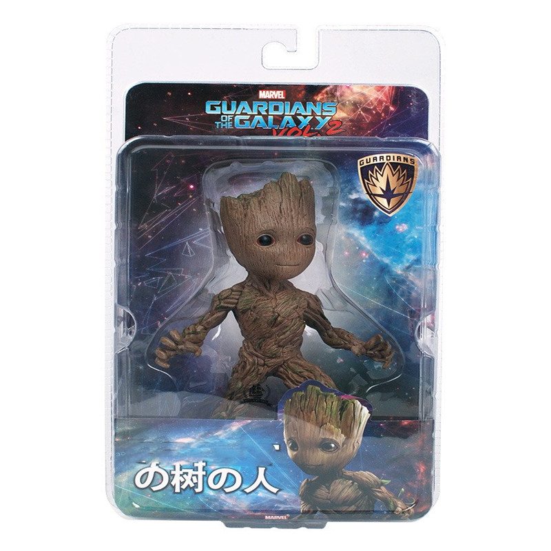 цена на 2017 NEW 15cm Tree Man Action Figure Toy PVC Marvel Movie Hero Model Doll Toy Guardians of the Galaxy Boy Gift with box