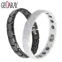 Men Women Healthy Magnetic Bracelet Hematite White Black New Energy Ceramic Bracelets Hot Sale Fashion Jewelry