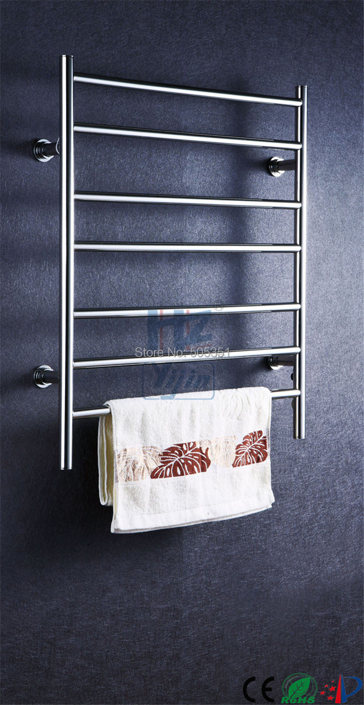 Bathroom Accessories Ladder Style Stainless Steel Economic Heated Towel Rail towel warmer electric towel rack dryer HZ-926A stainless steel square tube rotary electric heating towel bar towel rack