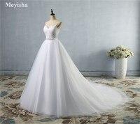ZJ9046 Beads Crystal White Ivory Wedding Dresses 2019 for brides sweetheart size 2/4/6/8/10/12/14/16W/18W/20W/22W/24W/26W/28W