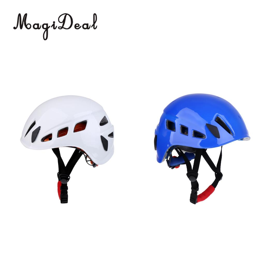 MagiDeal Hot 2pcs Safe Rock Climbing Caving Rappelling Rescue Helmet Protector White Blue 2pcs blue