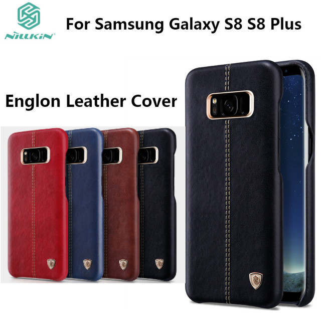 quite nice 72c71 e42f1 US $10.99 |NILLKIN Englon Leather Cover For Samsung Galaxy S8 S8 Plus  Luxury Vintage PU Leather Back Cover For Galaxy S8 S8+ Phone Case-in Fitted  ...