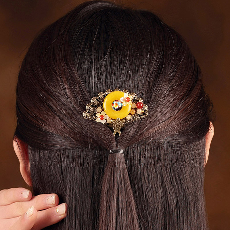 New Vintage Handmade Wedding Hair Accessories For Women Charm Head Hair Clip Tiara Crown High Quality Jewelry crown shaped hair clip