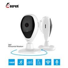 Хранитель HD 1080 P охранных IP камера двухстороннее аудио Беспроводная мини-камера 2MP ночное видение Wi-Fi камера видеонаблюдения видеоняни и Радионяни