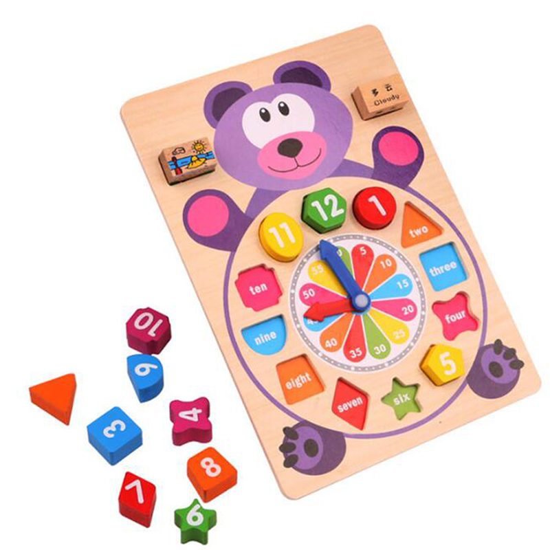 Permalink to Wooden Jigsaw Puzzle Games Popular Toys For Children Cartoon Animal Wooden 3D Puzzle Educational Toy Digital Clock Puzzle Games