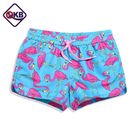 QIKERBONG Lady Casual Shorts Women Flower Print Shorts Women Shorts Ladies Quick Drying Fabric New 2017