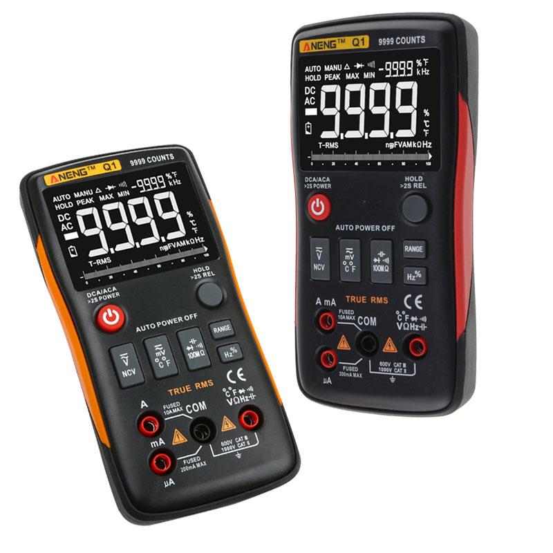 ANENG Q1 True-RMS Digital Multimeter 9999 Counts Professional Multimetro Transistor Capacitor NCV Testers lcr Meter