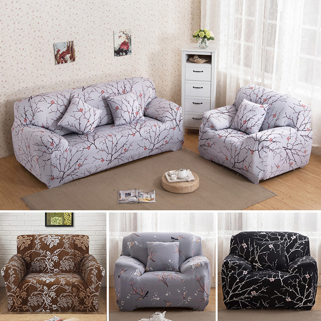 Universal Stretch Sofa Covers Furniture Protector Polyester Modern Loveseat  Couch Cover Sofa Towel 1/2