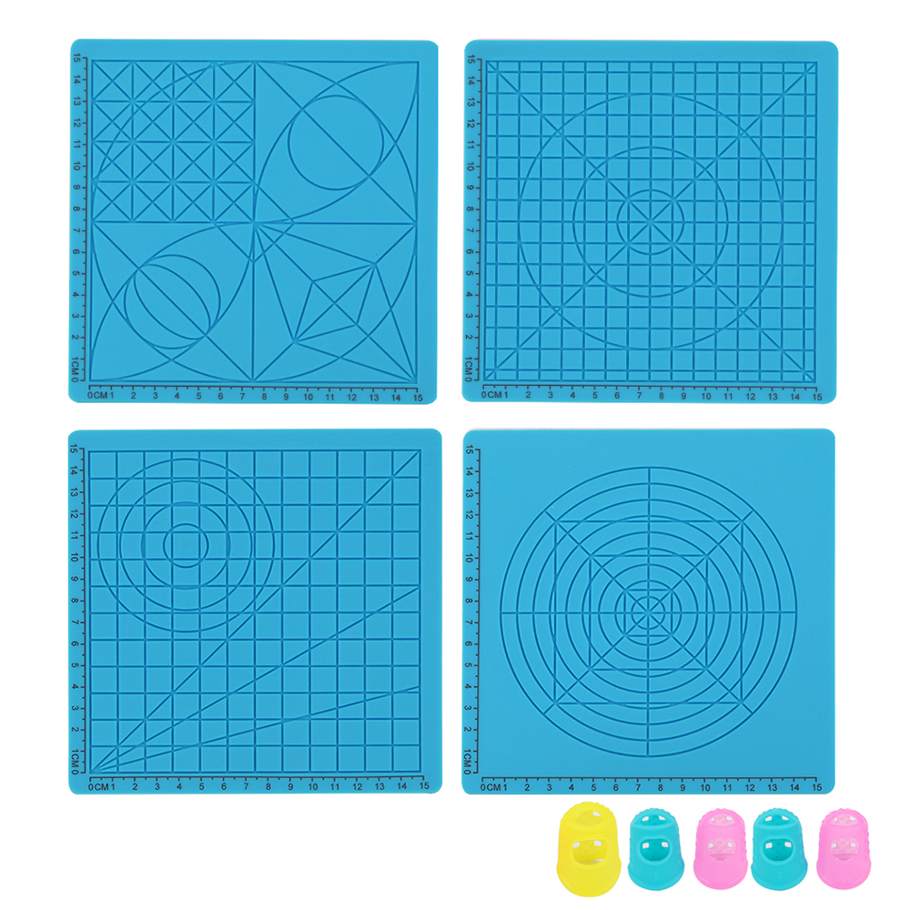 Leeofty Multi Purpose 3D Printing Pen Template Soft Silicone Mat 3D Drawing Templates Copy Board with 2PCS Fingerstalls