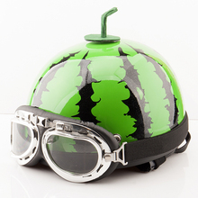 Cute Style Motorcycle helmets Bicycle scooter For Harley electromotive Helmets open Face retro half moto helmet +Visor Goggles 2016 retro style orange 3 4 motorcycle helmets with inner smoke len fashion half helmets for scooter free gift dot ece 8type